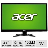 "Acer 23"" Widescreen Monitor, Refurbished (G236HL Bbd Black)"