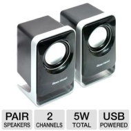 Gear Head USB Powered Flat Panel Speakers For Home/Office