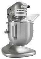 KitchenAid KSM500PSSM Pro 500 Series 10-Speed 5-Quart Stand Mixer, Silver Metallic