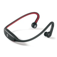 LT Black / Red Sports Bluetooth Neckband Wireless Headphones / Headset with Mic / Remote - For use with all Smartphones, Apple, iPod Touch, iPad, iPho