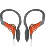 Panasonic Water Resistant Sports Clip Headphones - Orange