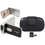 Polaroid 14MP Full HD Black Camcorder Bundle