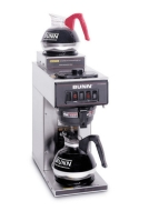 BUNN VP17-2SS Pourover Commercial Coffee Brewer with Two Warmers - Stainless Steel