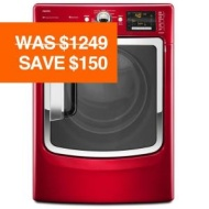 Maytag 7.4 cu. ft. Electric Front-Load Steam Dryer, Red
