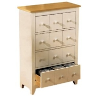 SHAKER - CD / DVD / Blu-ray / Media Storage Unit - White / Beech