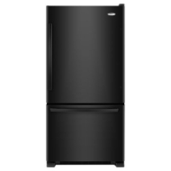 Whirlpool Gold 21.9 cu. ft. Single-Door Bottom-Freezer Refrigerator - Black