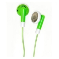iBox - GREEN Stereo Earphones For for All iPod, ZEN, Zune, and all other MP3 MP4 players