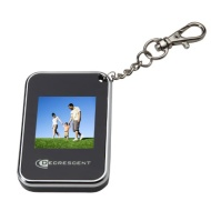 "Decrescent 1.5"" Digital Photo Frame on Key Chain - Silver"