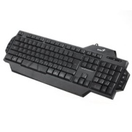 Genius K7 LED Illuminated Ergonomic Backlight Gaming Game USB Wired Keyboard PC