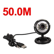 50.0M USB 2.0 6 LED Video Camera Webcam w/ Mic for PC Laptop MSN