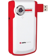 Agfaphoto Digital Video Camera - Waterproof with case, VGA, 8x Digital Zoom - Red
