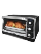 Black & Decker TO1640B 1500-Watt 6-Slice Countertop Convection Oven and Broiler with Nonstick Interior