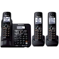 Panasonic KX-TG6643B DECT 6.0 Plus Expandable Set-of-Three Digital Cordless Telephones