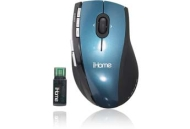 iHome™ Wireless 5-Button Programmable Laser Mouse (Blue)