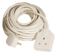 Masterplug Indoor Power BOG10-MS 1-Gang 13 amp Socket with 10 m Extension Lead (White)