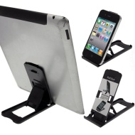 LUPO - Atril plegable universal para iPad, iPhone, tablets y smartphones, color negro