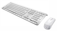 Perixx PERIDUO-703W UK, Wireless Keyboard and Mouse Set - Full Size - Piano White - 2.4G - Up to 10 Meters Operating Range - Chiclet Key Design - On/O