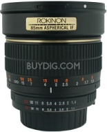 Rokinon 85mm f/1.4 Aspherical Lens for Sony DSLR Cameras