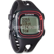 Garmin Forerunner 10 GPS Enabled Running Watch with Virtual Pacer (Black/Red)