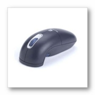 Mouse (Optical/Gyroscopic, Gyroscopic - Wireless - Radio Frequency - Scroll Wheel - 3 Buttons)