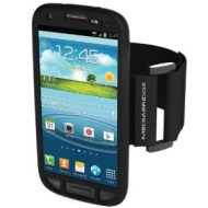 Mediabridge Armband for Samsung Galaxy S3 - Includes Front Screen Protector (Black)