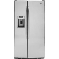 GE - Profile 29.1 Cu. Ft. Side-by-Side Refrigerator with Thru-the-Door Ice and Water - Stainless-Steel