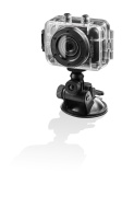 Hyundai Multi Sport Actionkamera (5,1 cm (2 Zoll) LCD-Display, 5 Megapixel, 2-fach dig. Zoom, micro SD-Kartenslot, USB 2.0, mit Auto-, Fahrrad- und He