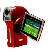 Isonic Snapbox DV51RD Camcorder with 5 Megapixel CMOS and 2 GIG SD CARD (Red)