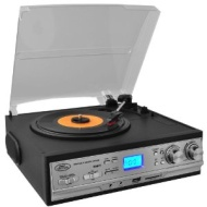 Pyle PTTCS9U Classic Retro Style Turntable with AM/FM Radio, Cassettes & MP3s, USB/SD Direct Record Function & Aux Input for iPod/MP3 Players