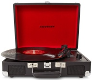 Crosley Cruiser Briefcase Style Three-Speed Portable Vinyl Turntable with Built-In Stereo Speakers - Black