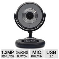 Gear Head 1.3 MP Web Camera Black