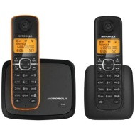 Motorola DECT 6.0 Cordless Phone with 2 Handsets and Caller ID L602M