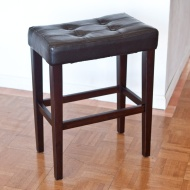Finley Home Palazzo 26 Inch Saddle Counter Stool - Brown, Brown, Wood