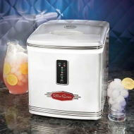 RIC-100WHT Retro Series Automatic Ice Maker, White