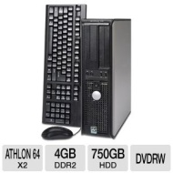Dell Optiplex 740 Desktop PC - AMD Athlon 64 X2 2.0GHz, 4GB DDR2, 750GB HDD, DVDRW, Windows 7 Professional 32-bit, (Off-Lease)  RB-740 2/4/750 |