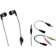 GE 98973 Voip In-Ear Headset with Inline Microphone and 2 Adapters