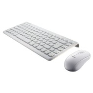 Perixx PERIDUO-707W PLUS UK, Wireless Mini Keyboard and Mouse Set - 320x141x25mm - 2.4 GHz - Up to 10 Meters Operating Range - Nano Receiver - Piano W