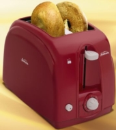 Sunbeam Two-Slice Toaster, Red