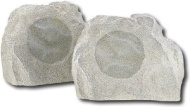 Insignia - Simulated Rock Outdoor Speakers (Pair)