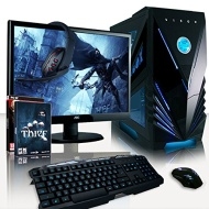 "VIBOX Warrior Package 7 - Top Gaming PC, Multimedia, High Spec, Desktop PC, USB3.0 Computer Full Package with 2x Top Games Bundle, 22"" Monitor, Speake"