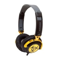 iFrogz EP-NP-4300 EarPollution Nerve Pipe Headphones - Hazard (Black/Gold)