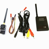 FPV 5.8G 1W 1000MW Video Audio Transmitter TX 5KM + 5.8GHz Reciver for FPV