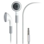 LUPO Lanyard Earphones for iPhones, iPod Touch, Nano, Classic & All Other MP3/4 Players - WHITE