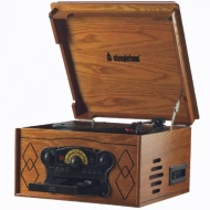 Steepletone Chichester 2 (Chichester II) Nostalgic Retro Wooden Music Centre - Record Deck Turntable - CD Player - Cassette Deck - MW / FM Radio - Bui