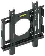 "10 to 32"" Flat Panel TV Wall Mount, 77 lbs Max Load Capacity, Black"