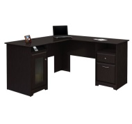 Bush Cabot L-Shaped Desk (Expresso Oak)