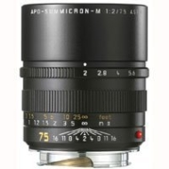 Leica 75mm f/2.5 SUMMARIT-M, Telephoto Manual Focus Lens for M System, Black - USA