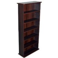 CHAK - 222 CD or 104 DVD Blu-ray Media Storage Shelf Unit - Dark Oak