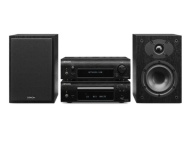 Denon D-F109DABCBKBKEK CD System with DAB Receiver, CD Player and Speakers--Black