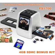 "SVP FS1700 Silver(8GB included) Digital Film Scanner w/ 2.4"" Build-in LCD , ~""World's Smallest Film Scanner""~"